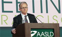 Edward Gane, presenting at AASLD 2015. Photo by Liz Highleyman, hivandhepatitis.com