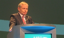 Stefan Zeuzem, presenting at AASLD 2016. Photo by Liz Highleyman, hivandhepatitis.com