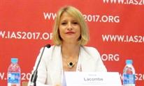 Karine Lacombe of Saint-Antoine Hospital, Paris, at IAS 2017. Photo by Liz Highleyman, hivandhepatitis.com