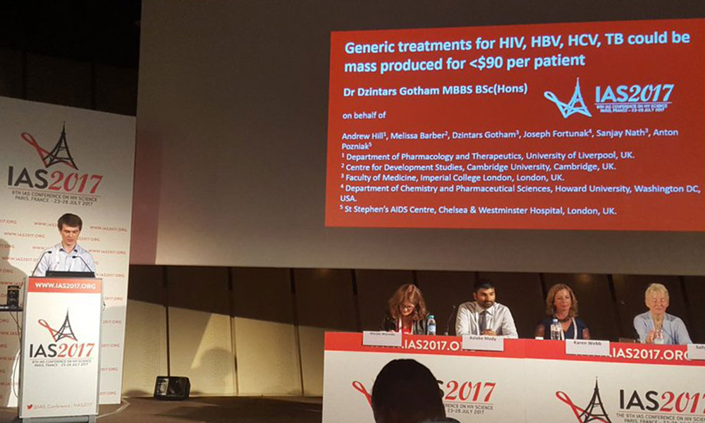 Dzintars Gotham presenting at IAS 2017. Image credit: Enzo Poultreniez / http://aides.org