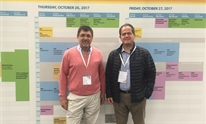 Juan Berenguer and Juan González from GeSIDA at EACS 2017. Image credit: @GeSIDA