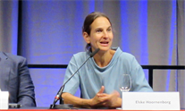 Elske Hoornenborg at AIDS 2018. Photo by Liz Highleyman.