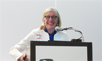 Kathleen Schwarz at The Liver Meeting 2018. Photo by Liz Highleyman.