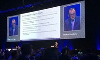 Markus Cornberg presenting at The International Liver Congress. Image: EASL Education @EASLedu